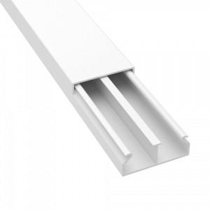 Мини кабель-канал с перегородкой DKC TMC 40/2x17 белый (кабельный короб)