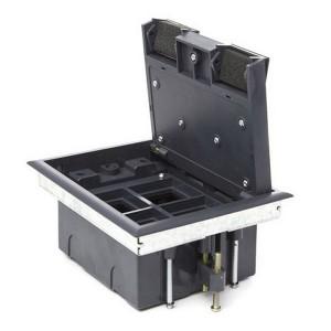 LUK/4 Люк в пол Экопласт на 4 механизма (45х45 мм) стальной, с суппортом и коробкой 70140