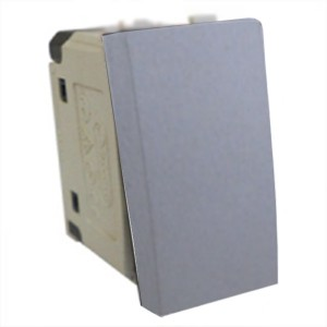Выключатель 45х22,5 мм Экопласт LK45 16A, 250B серебристый металлик