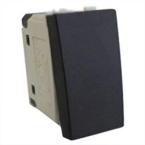 Выключатель 45х22,5 мм Экопласт LK45 16A, 250B черный бархат