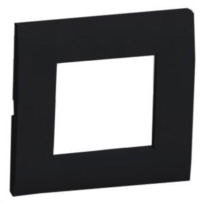Рамка 1-постовая (черный бархат) LK45 Экопласт