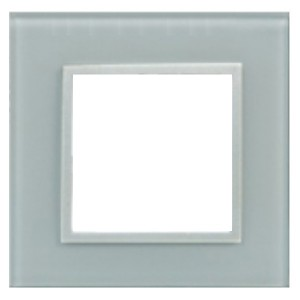 Рамка 1-постовая из натурального светлого стекла LK45 Экопласт