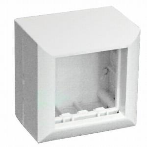 Коробка SM45 Экопласт для открытой проводки на 1 пост 45х45 мм