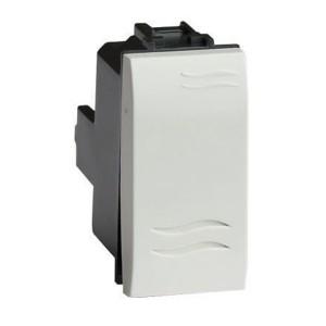 "Выключатель типа ""кнопка"" DKC Brava 1 модуль белый"