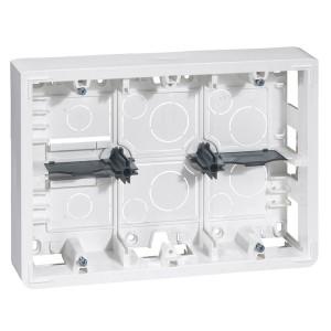 Коробка для накладного монтажа Legrand Mosaic 2х6/8 или 2х3х2 модуля высота 50мм