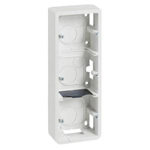 Коробка для накладного монтажа Legrand Mosaic 3х2 модуля вертикальная высота 40мм