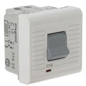 Автоматический выключатель Legrand Mosaic термомагнитный 1Р + N 230 В~  10 A  2 модуля  белый (автомат)