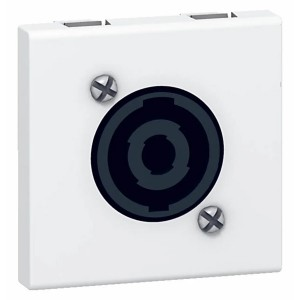 Аудиорозетка разъем Speakon Legrand Mosaic 4 контакта LCS? 2 модуля белый