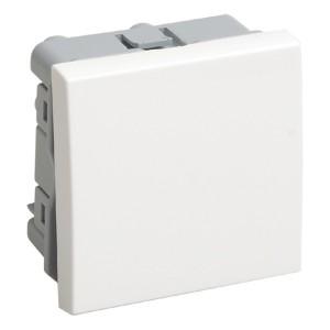 Выключатель одноклавишный (на 2 модуля) IEK Праймер белый