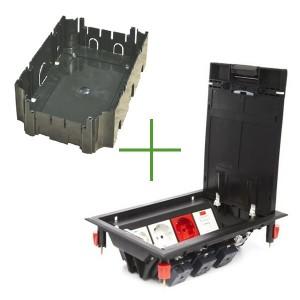 LUK/8P Люк в пол Экопласт на 8 механизмов (45х45мм) с суппортом и коробкой 70081+70160, пластик