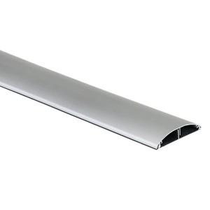 Кабель-канал напольный (основа с крышкой, 2 секции) Simon Connect 85x18мм, алюминий (кабельный короб)