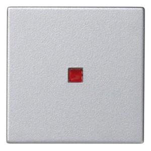 Клавиша 45х45мм для выключателя с подсветкой Simon K302, алюминий