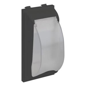 Плата с крышкой для автомата формата DIN, CIMA-модуль 42х52x108 мм, SC, графит