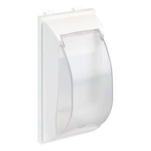 Плата с крышкой для автомата формата DIN, CIMA-модуль 33х52x108 мм, SC, белый