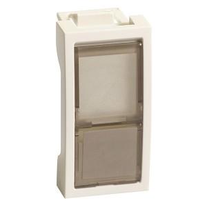Накладка-держатель для одного модуля RJ типа Keystone со шторок  1 модуь SE Ultra, белый