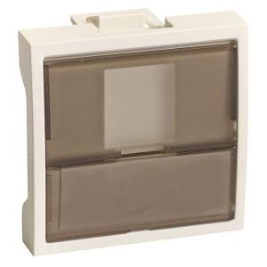 Накладка-держатель для одного модуля RJ типа Keystone со шторок  2 модуля SE Ultra, белый