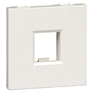 Накладка-держатель для модулей RJ типа Keystone без шторок 2 модуля SE Ultra, белый