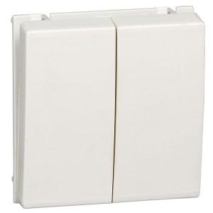 Двухклавишный выключатель 10А SE Ultra, белый
