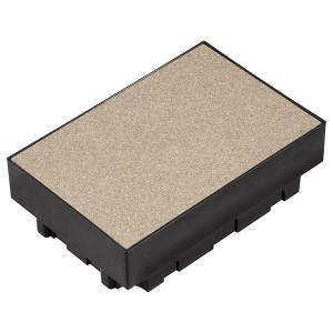 Коробка SE Ultra для монтажа прямоугольного лючка 6 постов в бетонный пол.