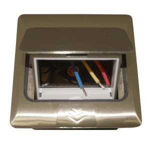 Мини-лючок Donel 3 модуля алюминий с монтажной коробкой