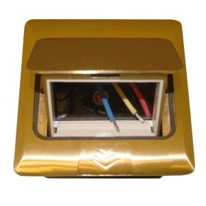 Мини-лючок Donel 3 модуля латунь с монтажной коробкой