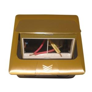 Мини-лючок Donel 4 модуля латунь с монтажной коробкой