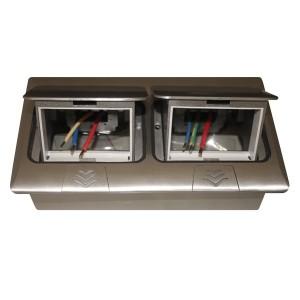 Мини-лючок Donel 6 (3+3) модулей алюминий с монтажной коробкой