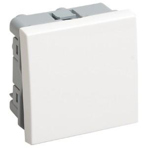 Выключатель переключатель одноклавишный (на 2 модуля) IEK Праймер белый