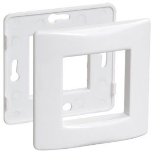 Рамка и суппорт для коробок КМКУ на 2 модуля IEK Праймер белый