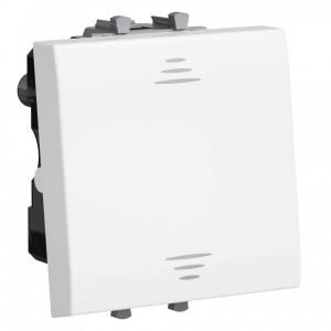 Выключатель 2 модуля DKC Avanti, белое облако