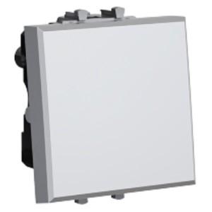 Выключатель 2 модуля DKC Avanti, закаленная сталь