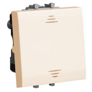 Выключатель 2 модуля DKC Avanti, ванильная дымка