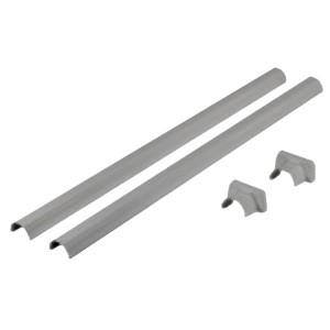Декоративный комплект из пластика Legrand для телескопической стойки колонны 1 или 2 секции алюминий