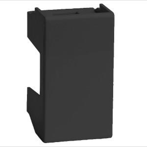 Заглушка на 1 модуль DKC Viva черная