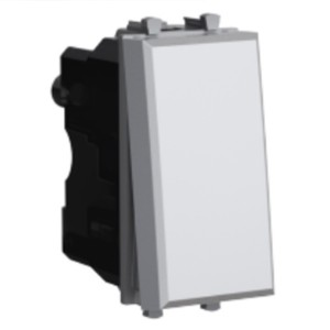 Диммер кнопочный модульный универсальный 3-220Вт 1 модуль DKC Avanti, закаленная сталь