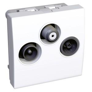 TV/FM/SAT розетка оконечная 1 вход Altira Schneider Electric белая 2 модуля