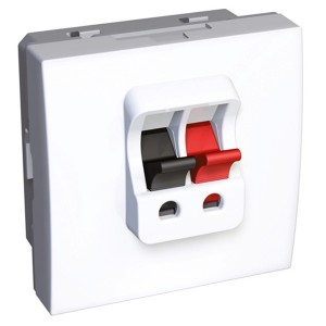 Аудио розетка одинарная 45х45 Altira Schneider Electric белый 2 модуля