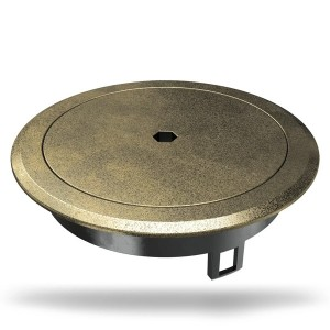 Лючок OBO Bettermann GES R2B пылевлагостойкий IP66, IK10, 40х140 мм (латунный) с ключом