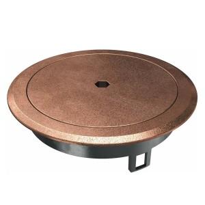 Лючок OBO Bettermann BGES R2B пылевлагостойкий IP66, IK10, 40х140 мм (состаренная медь) с ключом