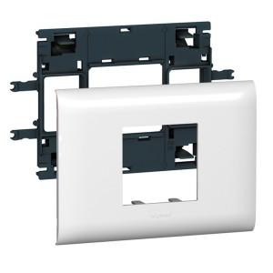 Рамка с суппортом DLP Legrand Mosaic на 2 модуля для крышки 85мм