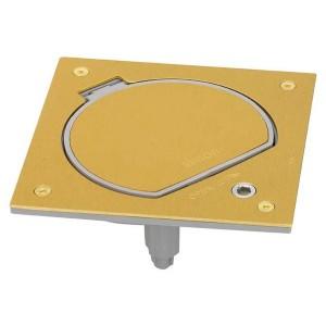 Лючок пылевлагозащищенный IP66 с замком Simon KSE0SEC-23-71 на 1 модуль K45 латунь