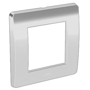 Рамка на 2 модуля (одноместная) DKC Brava белая