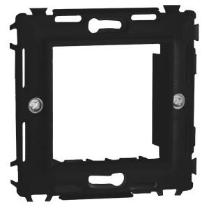 Каркас на 2 модуля (одноместный) без лапок DKC Brava черный