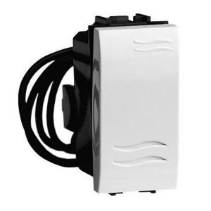 Выключатель с подсветкой DKC Brava 1 модуль белый
