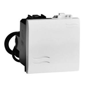 Выключатель с подсветкой DKC Brava 2 модуля белый