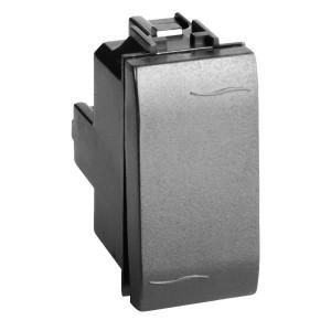 Выключатель DKC Brava 1 модуль черный