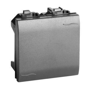 Выключатель DKC Brava 2 модуля черный