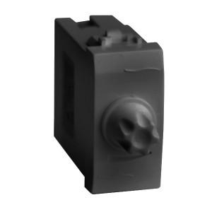 Диммер 35-500Вт DKC Brava 1 модуль черный