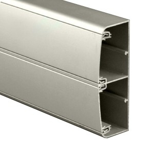 Кабель-канал алюминиевый  140х50 (с 2 крышками), цвет серый металлик, DKC In-liner Aero (кабельный короб)