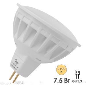 Лампа светодиодная Foton FL-LEDMR16 7,5W 2700K 12V GU5.3 56xd50 700Лм теплый свет